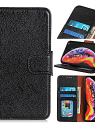 cheap -Case For Huawei Huawei Mate 30 Lite 30 Pro 30 20X 5G Nova 5i Pro 5Z 6 5G 6 SE Honor Play 3 V30 5G V30 Pro 5G P40 P40 Pro P40 Pro Card Holder Flip Full Body Cases Solid Colored PU Leather