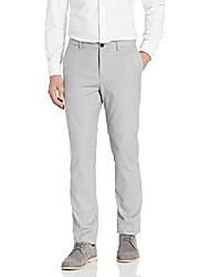 cheap -but& #39;s modern stretch chino wrinkle resistant pants, alloy, 32x32