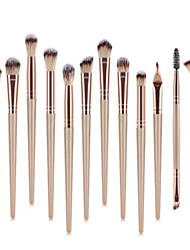 cheap -Professional Makeup Brushes 12pcs Professional Soft Full Coverage Color Gradient Plastic for Eyeliner Brush Blush Brush Foundation Brush Makeup Brush Lip Brush Eyebrow Brush Eyeshadow Brush