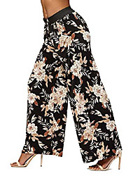 cheap -palazzo pants with pockets for women - many colors and prints - high waisted wide legged - wallflower - one size - lg237x207