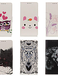 cheap -Case For Google Pixel 3AXL Pixel 3A Pixel4A Pixel 4 Pixel 4XL Card Holder  Shockproof  Magnetic Full Body Cases LAnimal  Cartoon Colored PU Leather TPU