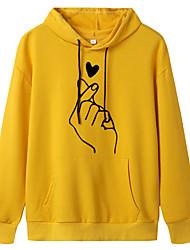 cheap -Women's Pullover Hoodie Sweatshirt Graphic Casual Hoodies Sweatshirts  Oversized Dark Pink Wine Red White