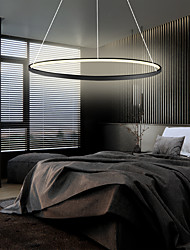 cheap -1-Light 80 cm LED Pendant Light Metal Acrylic Circle Painted Finishes Modern Contemporary 110-120V / 220-240V