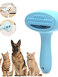 cheap -Dog Pets Cat Pet Hair Remover Grooming Clippers Hair Removal Product Rechargeable Battery Low Noise Plastic Comb Brush Dog Clean Supply Hair Removal Product Portable Travel Pet Grooming Supplies Blue
