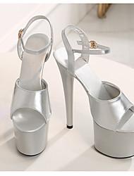 cheap -Women's Dance Shoes Pole Dancing Shoes Heel Buckle Slim High Heel White Black Purple Buckle