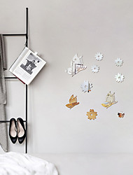 cheap -1 Piece Set Acrylic Art 3D Mirror Butterfly Wall Sticker DIY Home Wall Decal Decoration Sofa TV Wall Removable Wall Sticker 45*60cm