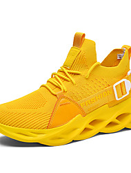 cheap -Men's Trainers Athletic Shoes Outdoor Walking Shoes PU White Yellow Light Green Fall