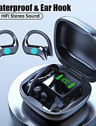 cheap -Wireless Earbuds Earhook Bluetooth 5.0 Stereo Earphones Workout Headphones IPX5 Auto Pairing Sports LED Power Display-LITBest MD03