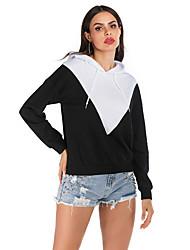 cheap -Women's Pullover Hoodie Sweatshirt Geometric Casual Hoodies Sweatshirts  Black