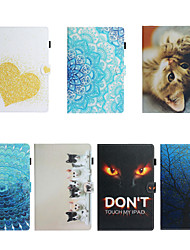 cheap -Case For Samsung Galaxy Tab A 10.1 2019 T510 Card Holder Shockproof Pattern Full Body Cases PU Leather TPU  magnetic buckle
