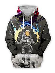 cheap -Men's Pullover Hoodie Sweatshirt Graphic Casual Basic Hoodies Sweatshirts  Gray