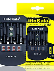 cheap -Liitokala Lii-NL4 Multifunction Charger 1.48v 1.5V Ni MH AA / AAA 9V Battery Charger DC12V 1AAC110-240V EU/US Plug