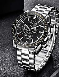 cheap -benyar chronograph wrist watch for men | classic design | quartz movement 30m waterproof | analog quartz watch | 22mm stainless steel | scratch resistant | litbwat