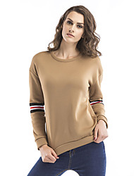 cheap -Women's Sweatshirt Pullover Sweatshirts Patchwork Fashion Crew Neck Color Block Solid Color Sport Athleisure Sweatshirt Long Sleeve Oversized Comfortable Plus Size Everyday Use Causal Daily