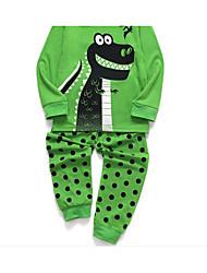 povoljno -Djeca Dječaci Osnovni Dinosaur Geometrijski oblici Sleepwear Djetelina