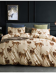 cheap -Animal Print 3-Piece Duvet Cover Set Hotel Bedding Sets Comforter Cover with Soft Lightweight Microfiber(Include 1 Duvet Cover and 1or 2 Pillowcases)