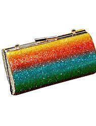 cheap -Women's Bags Satin Crossbody Bag Chain 2020 Daily Holiday Rainbow