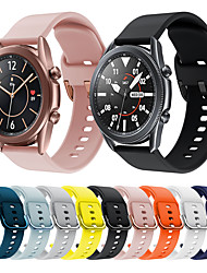 cheap -Sport Silicone Watch Band for Samsung Galaxy Watch 3 45mm / Galaxy Watch 3 41mm Replaceable Bracelet Wrist Strap Wristband