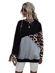 halpa -Naisten Pusero Color Block Perus Hupparit paidat Musta