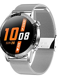 cheap -T03 Unisex Smartwatch Bluetooth Heart Rate Monitor Blood Pressure Measurement Calories Burned Thermometer Health Care ECG+PPG Pedometer Call Reminder Sedentary Reminder Alarm Clock