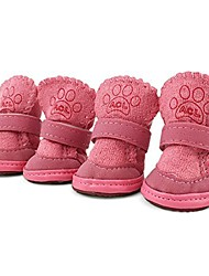 cheap -2 pairs pink detachable sole puppy dog shoes boots & #40;4#, pink& #41;