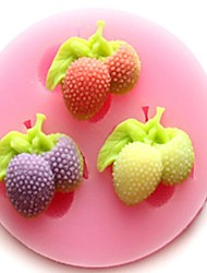 cheap -1Pcs Diy Cake Mould Strawberry Mould For Chocolate Or Cake High Quality 6Cm*1.2Cm