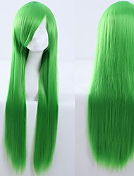 cheap -Cosplay Costume Wig Cosplay Wig Natural Straight With Bangs Wig Long A15 A16 A17 A18 A19 Synthetic Hair 40 inch Women's Anime Cosplay Creative Red Green