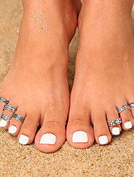 cheap -Toe Ring Vintage Trendy Ethnic Women's Body Jewelry For Gift Holiday Retro Alloy Sun Moon Silver 7pcs / Star