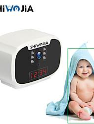 cheap -Ai Humanoid Track Batera Ip Cmara Wifi Led Reloj Beb Monitor Seguridad Vigilancia Cctv Cmara Usb Cargador Inalmbrico