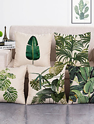 cheap -1 Set of 5 Pcs Green Leaf Botanical Series Throw Pillow Covers Modern Decorative Throw Pillow Case Cushion Case for Room Bedroom Room Sofa Chair Car