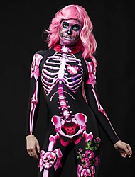 cheap -Women's Punk & Gothic Blushing Pink Jumpsuit Floral Abstract Print