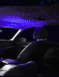 cheap -1pcs LED Car Roof Star Night Light Projector Atmosphere Galaxy Lamp USB Decorative Lamp Adjustable Multiple Lighting Effects