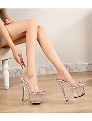 cheap -Women's Dance Shoes Pole Dancing Shoes Heel Slim High Heel White Black Red Buckle