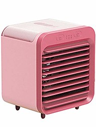 cheap -desktop cooler fan mini air conditioner fan portable air cooler mini space evaporative air cooler office desktop humidifier purifier (pink,1 set)