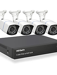 cheap -DIDSeth H.265 4CH 5MP POE Security Camera System Kit 4pcs AI IP Camera Outdoor Waterproof CCTV Video Surveillance NVR Set