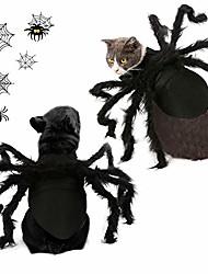 رخيصةأون -هالوين الحيوانات الأليفة القط العنكبوت زي تسخير الملابس للقطط والكلاب الصغيرة هالوين حزب اللباس مهرجان الديكور تأثيري العنكبوت ازياء