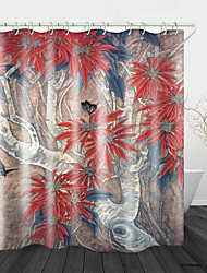 cheap -Butterfly Picking Flowers Digital Print Waterproof Fabric Shower Curtain For Bathroom Home Decor Covered Bathtub Curtains Liner Includes With Hooks