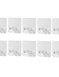 cheap -5/10Pcs Power Plug Hook Transparent Strong Adhesive Seamless Socket Storage Holder Adhesive Wall Hanger For Kitchen Living Room