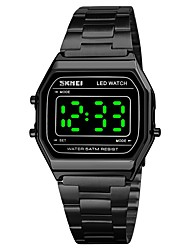 cheap -SKMEI Unisex Digital Watch Digital Sporty Outdoor Water Resistant / Waterproof Digital Rose Gold Black Gold / Stainless Steel / Calendar / date / day / Luminous / Large Dial