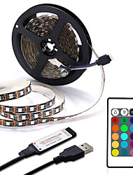 cheap -USB LED Strip 1M 2M 3M 4M Mini 24Key Flexible Light Lamp Desk Decor Screen TV Background Lighting
