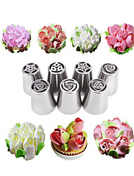 cheap -7PCS Flower Russian Icing Piping Mouth Cake Decorating Baking Accessories Tool