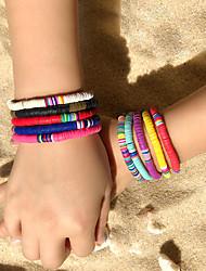 cheap -10pcs Women's Friendship Bracelet Bracelet Layered Fashion Stylish Simple Ethnic Cute Boho Silicone Bracelet Jewelry Rainbow For Gift Prom Date Beach Festival