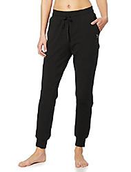 cheap -women& #39;s active yoga fleece lined joggers warm sweats pants workout thermal sweatpants side pockets spacedye red xs