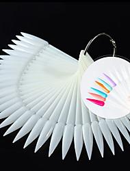 cheap -Nail Supplies 50-Color Nail Fan-Shaped Color Card Nail Polish Color Card Nail Practice Nail Piece Nail Polish Color Board
