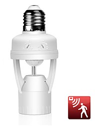 cheap -Intelligent E27 Socket PIR Motion Sensor Lamp Holder Light Control Infrared Lamp Base For LED Light Energy Saving LED Lamp Base Holder