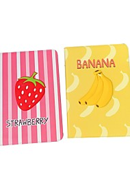 cheap -Case For Apple iPad  Mini 3 2 1 iPad Mini 4 iPad Mini 5 with Stand Flip Full Body Cases PU Leather TPU Protective Stand Cover Pattern cute lovely fruit banana strawberry embossed