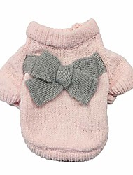 cheap -pet clothes for small/medium/large dogs,puppy solid color bow-knot sweater,puppy dog cat coat sweater apparel,puppy winter outerwear warm sweater dog outfits,dog coats,cat jackets clothing (xl, pink)