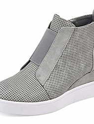 cheap -wedge sneakers for women side zipper high top hidden wedge ankle booties