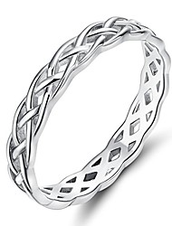 cheap -925 sterling silver ring 4mm eternity celtic knot wedding band for women size 9