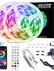 cheap -LED Strip Lights - 10M RGB LED Light Strip App Control for Room Lighting SMD 2835 Color Changing Tape Lights Kits with Remote Flexible Music Sync LED Strip for Home Kitchen 12V 3A Adapter
